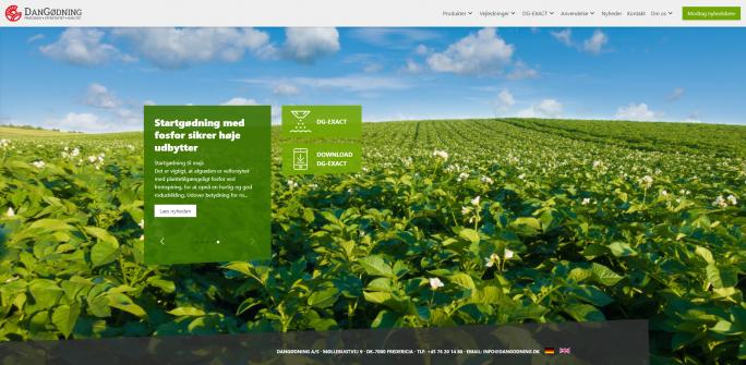 Velkommen til DanGødning´s nye hjemmeside